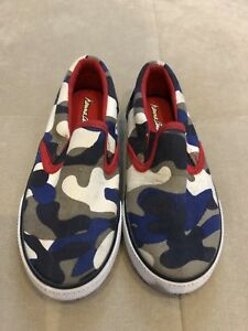Boys-Hanna-Andersson-Shoes-Sneakers-Size-11-Red-Blue-White-Worn-Once