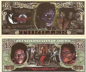 Michael Jackson Thriller 13 Dollar Bills x 2 Close to ...
