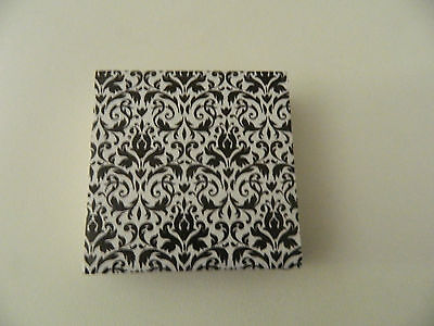 Multi Colored Damask Coasters Gray, Christmas, Easter, Blue, Green, Indie