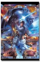 SCIENCE FICTION MOVIE POSTER Star Wars 30th Collage