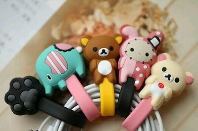 2 pcs cute Rilakkuma body small cable holder / cable clips