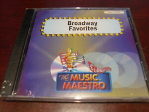 MUSIC MAESTRO KARAOKE 6015 BROADWAY FAVORITES CD+G OOP SEALED