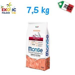 Croquettes de croquettes pour aliments secs Monge Mini pour adulte, 7,5 kg