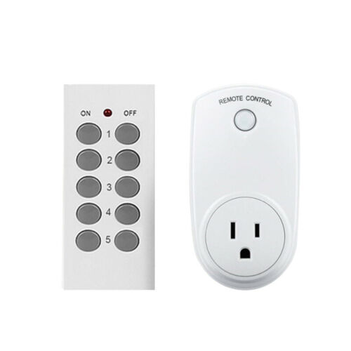 Wireless Remote Control Power Outlet Plug Light Switch Socket 1 Remote US Plug