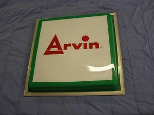 Original-Arvin-Mufflers-Auto-Parts-Sign-Advertising-Ford-Chevrolet-GM-Dodge-nos