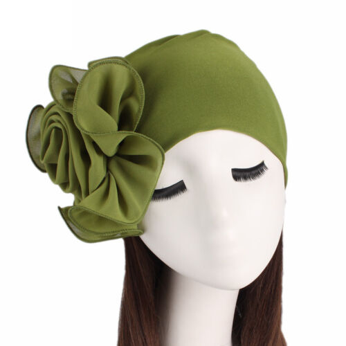 Women/'s Turban Caps Big Floral Headwear Muslim Cancer Chemo Hats Cover Headbands
