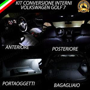 Kit full led interni golf 7 vii plafoniera anteriore post for Luci led interni
