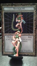 YUGIOH Dungeon Dice Monsters DDM -  NEKOGAL #1  figure & card lot