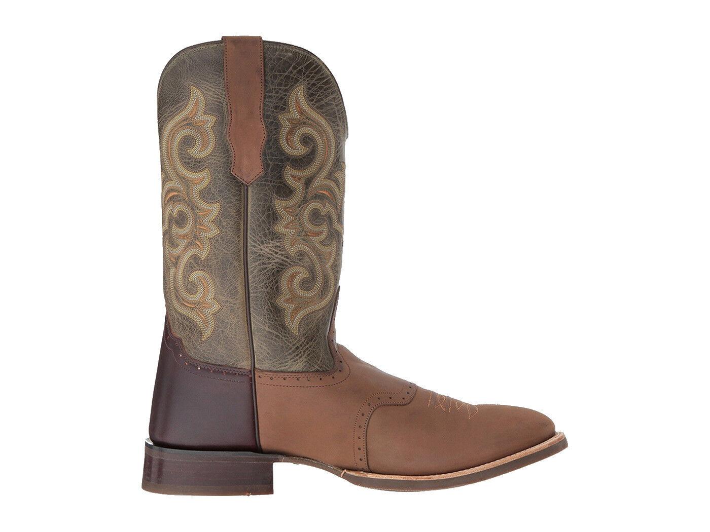 Oeste botas de vaquero para hombre amplia Old Goma rojoonda Chocolate Barnwood 5703