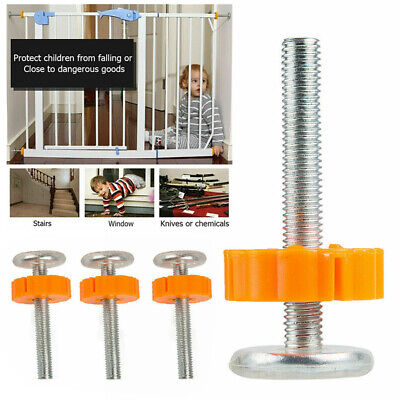 4x Pressure Fit Baby Safety Stairs Gate Bolts Screws Spanner Fixings Spare Parts