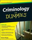 Criminology for Dummies by Consumer Dummies Staff and Steven Briggs (2009, Paperback)