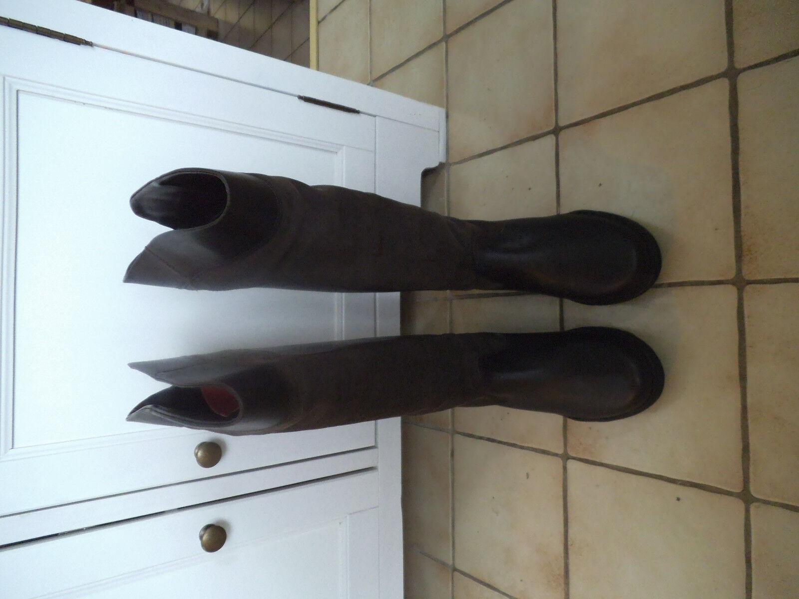 Fashion Stiefel Winter Leder dunkelbraun Gr. 42 W43/H47 W43/H47 42 999ff5
