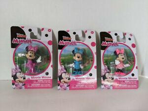 Disney Junior Minnie Mouse Figures - Lot of 3 - NEW! Original Packaging/Unopened