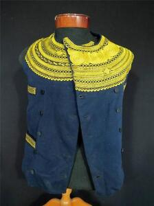 MUSEUM-PC-1896-FRENCH-ANTIQUE-VICTORIAN-EMBROIDERED-BRETON-ANCIEN-FOLK-VEST-SM