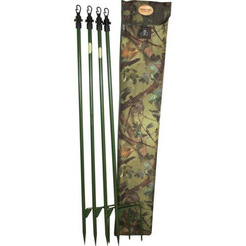 Jack Pyke Super Hide Poles Set Extends To 2m English Oak Shooting Hunting