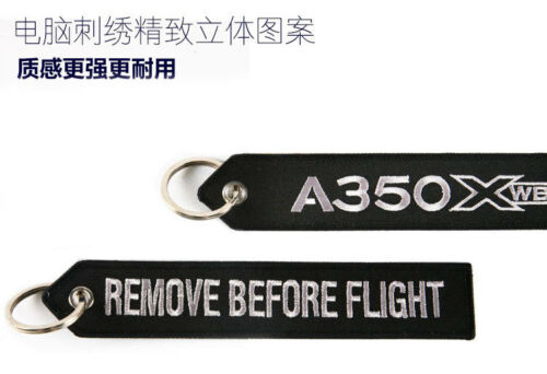 New Airbus A330 A350 A380 Embroider Keychain Car Ring Tag Red Black Pink Blue