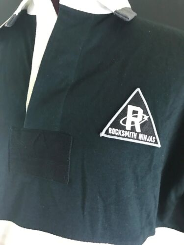 Details about  /ROCKSMITH NEW MONEY COTTON S//S BLACK//GRAY//WHITE RUGBY POLO SHIRT NINJAS COLLARED