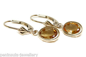 9ct-Gold-Citrine-LeverBack-Earrings-Gift-Boxed-Made-in-UK