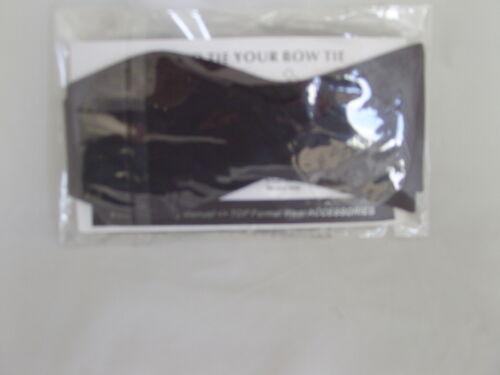 Instruction-P/&P2UK/>1st Class BLACK Polyester Self-tie Bow Tie /& Cummerbund Set