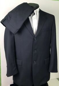 Jos-A-Bank-Signature-Collection-3Btn-Suit-Navy-Blue-100-Wool-Men-s-42R-40x28