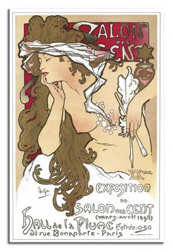 Große Meister Alfons Mucha 90x60cm Leinwand Kunstdruck