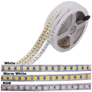 1M-5M-5050-LED-Strip-Lights-RGB-White-Warm-White-60-600LEDs-Flexible-Light-12V