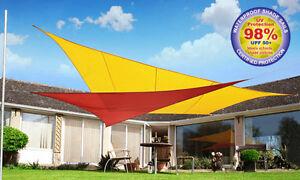 Image is loading Kookaburra-Sail-Shade-Sun-Canopy-Patio-Awning-Garden- & Kookaburra Sail Shade Sun Canopy Patio Awning Garden 98% UV ...