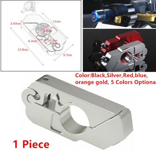 CNC Handle Grip Durable Motorcycle Brake Clutch Lever Throttle Lock Security Kit