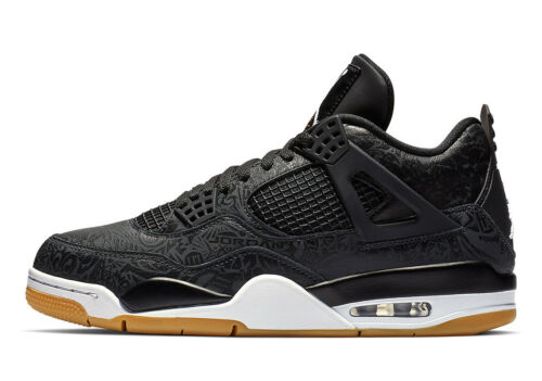 Air Jordan 4 SE Retro /'Laser/' Black//White-Gum Light Brown CI1184 001