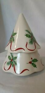 Lenox Tree Bright Christmas Porcelain Tea Light Votive Candle Holder With Candle