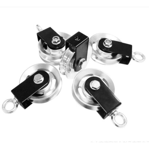 2x Swivel Pulley Block Home Spin Pulleys Gym Fitness Lifting Rope Guide Loading