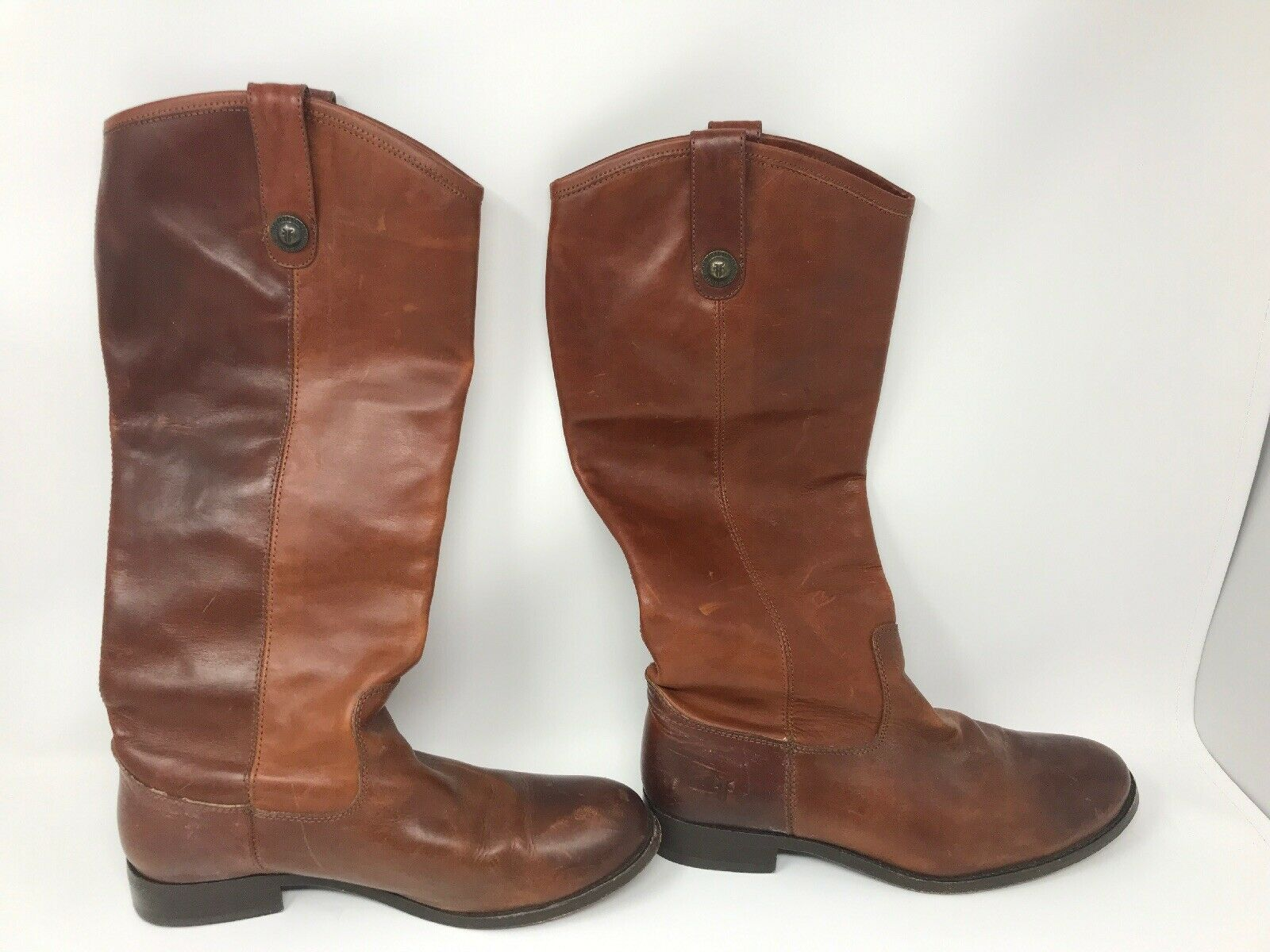 Womens Frye Melissa Brown Leather Boots Size 7.5B 4015 G 12 Knee High