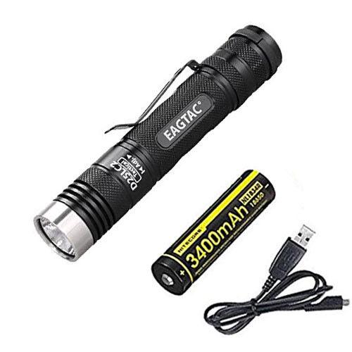 Eagletac D25LC2 Tactical Flashlight Flashlight w NL1834R Battery +Free USB Cable