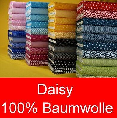 Baumwollstoff DAISY Meterware Kinder Baumwolle Stoff ÖKO Baumwolle Kinderstoff