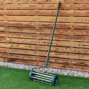 Ordinaire Image Is Loading Rolling Lawn Aerator Heavy Duty Garden Yard Tool