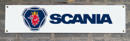 man cave banner for garage or event used 5ft x 1ft SCANIA PVC Garage