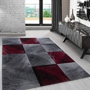 Modern Design Rug Shortpile Living Room Square Design Heather Gray