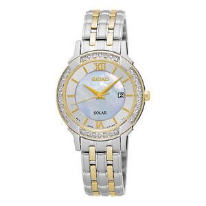Seiko SUT278 SUT278P9 Ladies Solar Diamond Watch two-tone WR30m RRP $895.00