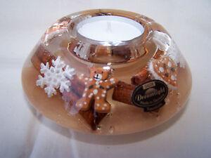 Dreamlight Teelicht Lebkuchen Teddy Zimtstange Dekor 11 Cm