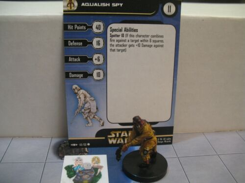 Star Wars Miniatures Clone Strike Aqualish Spy with card 49//60