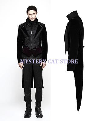 New PUNK RAVE Gothic Elegant Aristocrat Men Black Jacket Coat Y-814 AUSTRALstock