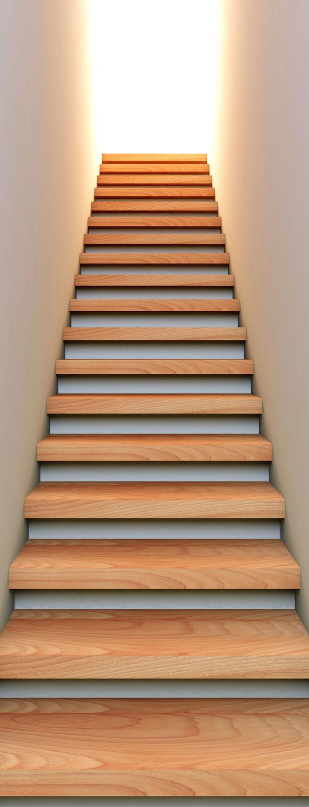 Sticker trompe l'oeil Montée d'escalier 100x260cm 401