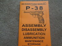 German Walther P-38 Pistol Service Manual 44 Pg.