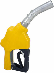 """ZL-120L Yellow Stainless 1"""" 1-3/16""""Automatic Fueling Nozzle Gas Diesel Biodiesel"""