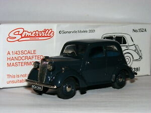 Somerville-Modelos-152A-1939-Vauxhall-10-H-Tipo-Saloon-Gris-1-43