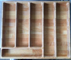 Details zu Bio Öko Holz Küche Annex Küchen-Schrank  Schubladen-Besteck-Einsatz NEU UNBENUTZT