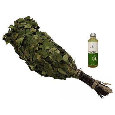 Eukalyptus Birke Quast Eukalyptusreisig Saunazubehör Saunaquast mit Körperöl