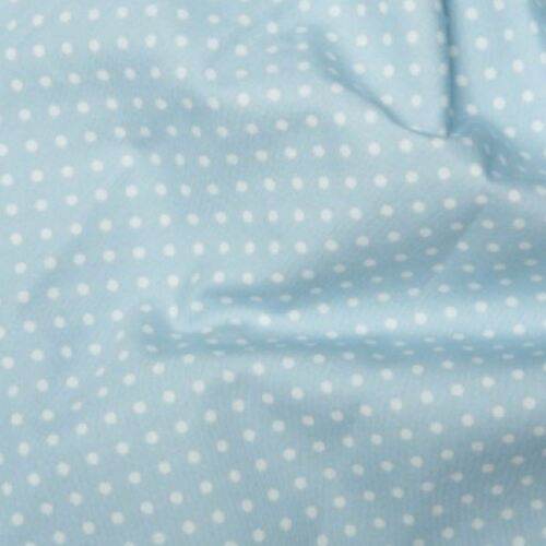 Azul de bebé 3 mm Irregular Lunares 100/% Algodón Popelín Tela Costura Acolcha 130gsm