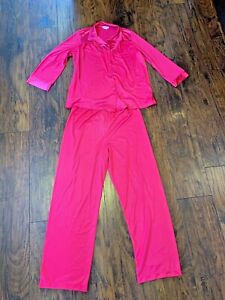Vintage Vanity Fair 2 Piece Women S Pajama Set Pink 60 S 70 S Medium Nylon Usa Ebay