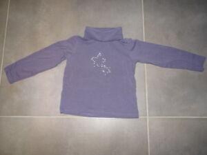 T-shirt-violet-a-paillettes-manches-longues-col-roule-TAPE-A-L-039-OEIL-Taille-4-ans